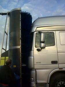 Mobiel vrachtwagen wassen